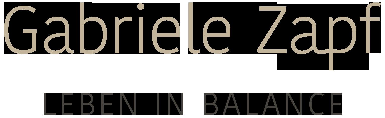 Gabriele Zapf - Leben in Balance